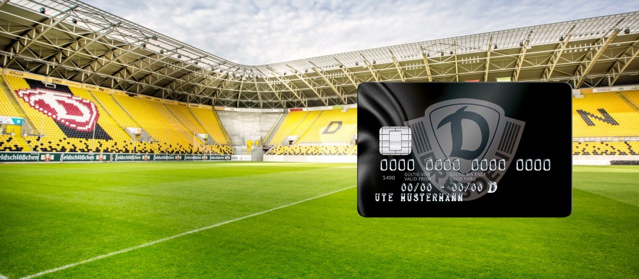Stadion Dynamo Dresden mit Kreditkarte Sparkasse