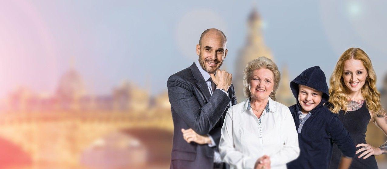 Die Familie der Ostsaechsischen Sparkasse Dresden